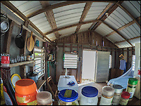BNPS.co.uk (01202 558833)<br /> Pic: WillowReed/BNPS<br /> <br /> The interior of the cabin on the island.<br /> <br /> Unleash your inner Robinson Crusoe with an idyllic Caribbean island off the coast of Belize up for grabs.<br /> <br /> Brit Willow Reed, 40, is selling the stunning island of Virginia Caye, a nature haven of just under four acres, through eBay.<br /> <br /> The starting bid is &pound;400,000 or, if they don't want the risk of losing out to a higher bidder, someone could pay the 'buy it now' price of &pound;750,000.<br /> <br /> For that the lucky buyer will get their own private piece of paradise where they can escape the British weather or they could invest more money to turn the island into a popular tourist retreat.