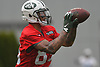 Jalin Marshall #89, New York Jets wide receiver, makes a catch during the first day of offseason training activity at the Atlantic Health Jets Training Center in Florham Park, NJ on Tuesday, May 23, 2017.