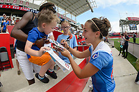 Bridgeview, IL - Saturday June 17, 2017: Fans, Danielle Colaprico during a regular season National Women's Soccer League (NWSL) match between the Chicago Red Stars and the Washington Spirit at Toyota Park. The match ended in a 1-1 tie.