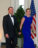 mayor Leonard Curry (Republican of Jacksonville, Florida) and Molly Curry arrive for the State Dinner hosted by United States President Donald J. Trump and First lady Melania Trump in honor of Prime Minister Scott Morrison of Australia and his wife, Jenny Morrison, at the White House in Washington, DC on Friday, September 20, 2019.<br /> Credit: Ron Sachs / Pool via CNP