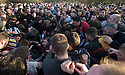 "17/02/15  <br /> <br /> 'The hug' bogs down in Henmore Brook at the annual Royal Shrovetide Football  Match in Ashbourne, Derbyshire. After 'turning up' the ball at 2pm thousands of rival Up'Ards' and Down'Ards' team members attempt to 'goal' the ball onto stones set three miles apart in the town of Ashbourne, Derbyshire. The game also known as ""hugball"" has been played from at least c.1667 although the exact origins of the game are unknown but one of the most popular origin theories suggests the macabre notion that the 'ball' was originally a severed head tossed into the waiting crowd following an execution.<br /> <br /> <br /> All Rights Reserved - F Stop Press.  www.fstoppress.com. Tel: +44 (0)1335 418629 +44(0)7765 242650"