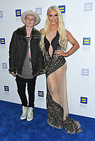 10 March 2018 - Los Angeles, California - Nats Getty, Gigi Gorgeous. The Human Rights Campaign 2018 Los Angeles Dinner held at JW Marriott LA Live.  <br /> CAP/ADM/BT<br /> &copy;BT/ADM/Capital Pictures