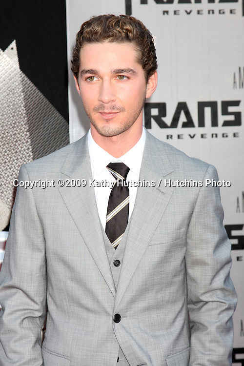 "Shia LaBeouf  arriving at the ""Transformers: Revenge of the Fallen"" Premiere at the Mann's Village Theater in Westwood, CA  on June 22, 2009.  .©2009 Kathy Hutchins / Hutchins Photo"