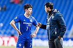 Ulsan Hyundai Head Coach Kim Do Hoon (R) talks to Ulsan Hyundai Forward Kim Insung (L) during the AFC Champions League 2017 Group E match between Ulsan Hyundai FC (KOR) vs Brisbane Roar (AUS) at the Ulsan Munsu Football Stadium on 28 February 2017 in Ulsan, South Korea. Photo by Victor Fraile / Power Sport Images