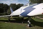 North American F-100D Super Sabre Norfolk  Suffolk aviation museum Flixton Bungay England.