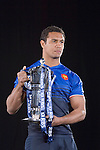 Thierry Dusautoir (France) at the official launch of the RBS Six Nations rugby tournament at the Hurlingham Club in London..