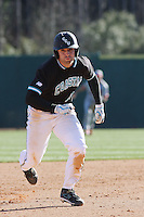 Rich Witten of the Coastal Carolina University Chanticleers running the bases in a game against NC State University at the Baseball at the Beach Tournament held at BB&T Coastal Field in Myrtle Beach, SC on February 28, 2010.