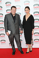 Johnny Vegas, Maia Dunphy at The Jameson Empire Film Awards 2014 - Arrivals, London. 30/03/2014 Picture by: Henry Harris / Featureflash