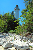 Lighthouse on Lake Michigan.  Door County Wisconsin USA