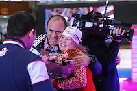 SCHAATSEN: BERLIJN: Sportforum, 06-12-2013, Essent ISU World Cup, Team Russia, Alexey Kravzov, Olga Fatkulina, ©foto Martin de Jong