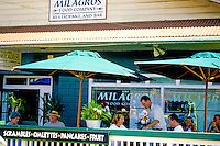 A restaurant in the town of Paia