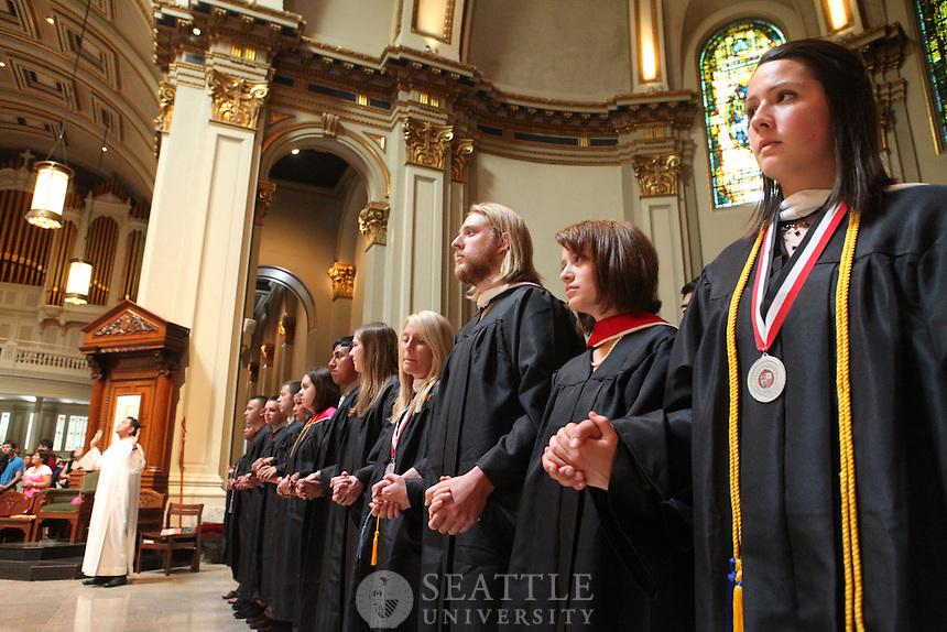 06122010- Graduation mass, Seattle University, ,Baccalaureate Mass, St. James Cathedral