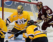 Andrew Braithwaite (Merrimack - 33), Cam Atkinson (BC - 13) - The Merrimack College Warriors defeated the Boston College Eagles 5-3 on Sunday, November 1, 2009, at Lawler Arena in North Andover, Massachusetts splitting the weekend series.