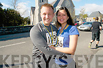 American couple Daniel and Patricia Clarke from California who celebrated their first wedding anniversary by participating in the Jack and Jill fun run in Kenmare on Saturday.