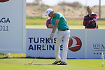 Rhys Davies (WAL) tees off on the 17th tee during Day 3 Saturday of the Open de Andalucia de Golf at Parador Golf Club Malaga 26th March 2011. (Photo Eoin Clarke/Golffile 2011)