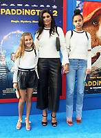 "6 January 2018 - Los Angeles, California - Rachel Roy with daughters Tallulah Ruth Dash and Ava Dash. ""Paddington 2"" L.A. Premiere held at the Regency Village Theatre. Photo Credit: AdMedia"