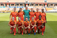 Houston, TX - Sunday April 28, 2019: 2019 NWSL regular season match between the Houston Dash and the the NC Courage at BBVA Compass Stadium.