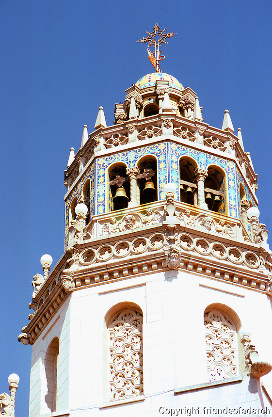 Hearst Castle: La Casa Grande Tower. Photo '86.