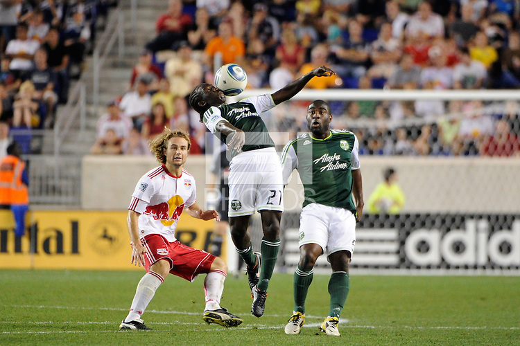 Diego Chara (21) of the Portland Timbers. The New York Red Bulls defeated the Portland Timbers 2-0 during a Major League Soccer (MLS) match at Red Bull Arena in Harrison, NJ, on September 24, 2011.