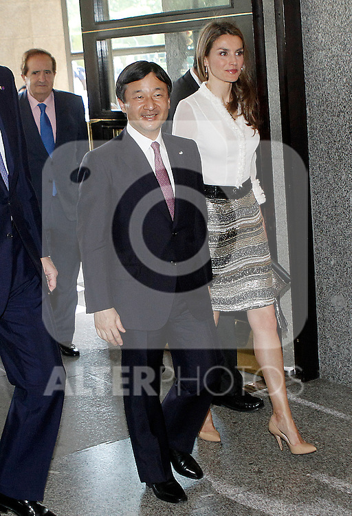 Princess Letizia of Spain and the Imperial Highness the Crown Prince of Japan Hiro-no-miya Naruhito Shinno attend the opening concert of the year Spain-Japan.June 10,2013. (ALTERPHOTOS/Acero)