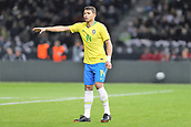27th March 2018, Olympiastadion, Berlin, Germany; International Football Friendly, Germany versus Brazil; Thiago Silva (Brazil) sends instructions at dead ball kick