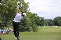 Jon Rahm (ESP) tees off the 3rd tee during Friday's Round 2 of the 2017 PGA Championship held at Quail Hollow Golf Club, Charlotte, North Carolina, USA. 11th August 2017.<br /> Picture: Eoin Clarke | Golffile<br /> <br /> <br /> All photos usage must carry mandatory copyright credit (&copy; Golffile | Eoin Clarke)