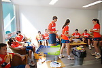 Roland Garros. Paris, France. June 1st 2012.A day with the ball boys..After noon snack