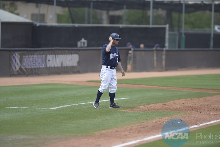 23 May 2014: Nevada against Fresno State during the Mountain West Baseball Championship Tournament at Earl E. Wilson Baseball Stadium in Las Vegas, NV. Peter Lockley/NCAA Photos