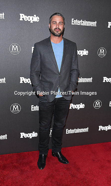 Taylor Kinney attends the Entertainment Weekly &amp; PEOPLE Magazine New York Upfronts Celebration on May 16, 2016 at Cedar Lake in New York, New York, USA.<br /> <br /> photo by Robin Platzer/Twin Images<br />  <br /> phone number 212-935-0770
