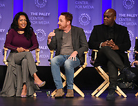 "HOLLYWOOD, CA - MARCH 17: Adrianne Palicki, Penny Johnson Jerald and Scott Grimes at the PaleyFest 2018 - ""The Orville"" panel at the Dolby Theatre on March 17, 2018 in Hollywood, California. (Photo by Scott Kirkland/Fox/PictureGroup)"