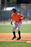 Houston Astros Garrett Stubbs (73) during a minor league Spring Training game against the Detroit Tigers on March 30, 2016 at Tigertown in Lakeland, Florida.  (Mike Janes/Four Seam Images)