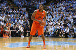 08 January 2014: Miami's Garrius Adams. The University of North Carolina Tar Heels played the University of Miami Hurricanes in an NCAA Division I Men's basketball game at the Dean E. Smith Center in Chapel Hill, North Carolina. Miami won the game 63-57.