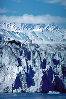 Glacier and ice at water's edge, Prince William Sound, Alaska