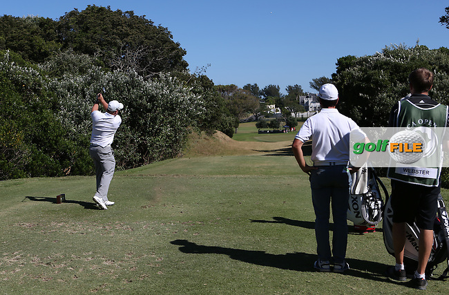 Merrick Bremner (RSA) tees to the 10th during Round Three of the Africa Open 2015 at the East London Golf Club, East London, Eastern Cape, South Africa. Picture:  David Lloyd / www.golffile.ie. 07/03/2015