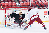 Ryan Edquist (BC - 35), Luke McInnis (BC - 3) - The Boston College Eagles practiced at Fenway on Friday, January 6, 2017, in Boston, Massachusetts.
