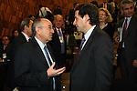 Miguel Angel Fernandez Ordonez gorbernador of the bank of Spain during press conference..(Acero/ALTERPHOTOS)