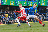 Ali Crawford of Doncaster Rovers and Tom Naylor of Portsmouth vie for the ball during Portsmouth vs Doncaster Rovers, Sky Bet EFL League 1 Football at Fratton Park on 2nd February 2019
