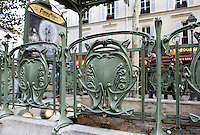 "Subway station "" Abbesses "" with shelter of roof, 1900, Paris18th, France, built by architect Hector Guimard (Lyon, 1867 - New York, 1942) Picture by Manuel Cohen"