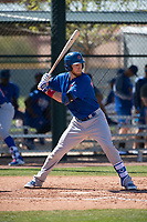 Chicago Cubs catcher Cael Brockmeyer (7) during a Minor League Spring Training game against the Los Angeles Angels at Sloan Park on March 20, 2018 in Mesa, Arizona. (Zachary Lucy/Four Seam Images)