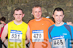 Gary Whelan, Richard Walsh and Ronan Carroll who ran in the Killarney Lions club mini marathon in Killarney on Sunday