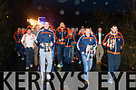 Welcoming the Champions home.  Pictured at the Brosna Home Coming Celebrations on Sunday evening after winning All Ireland Junior Championship.  <br /> <br /> The team are pictured here walking the cup over the Limerick/Kerry Border at Feales Bridge Abbeyfeale on Sunday evening lead by Captain Don McAuliffe.