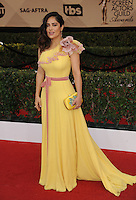 www.acepixs.com<br /> <br /> January 29 2017, LA<br /> <br /> Salma Hayek arriving at the 23rd Annual Screen Actors Guild Awards at The Shrine Expo Hall on January 29, 2017 in Los Angeles, California<br /> <br /> By Line: Peter West/ACE Pictures<br /> <br /> <br /> ACE Pictures Inc<br /> Tel: 6467670430<br /> Email: info@acepixs.com<br /> www.acepixs.com