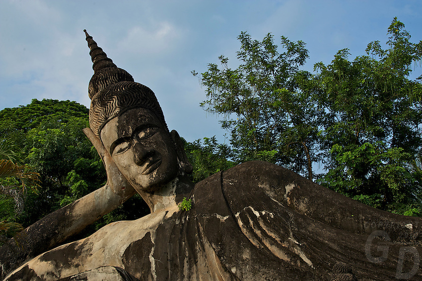 Buddha Park also known as Xieng Khuan, located 25 km southeast from Vientiane, Laos