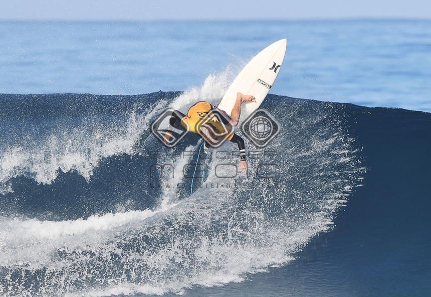 Hawaii's John John Florence.<br /> 2017 Billabong Pipe Masters, Oahu, Hawaii, USA. World Surf League (WSL). Monday 18 December 2017. &copy; Copyright photo: Andrew Cornaga / www.photosport.nz