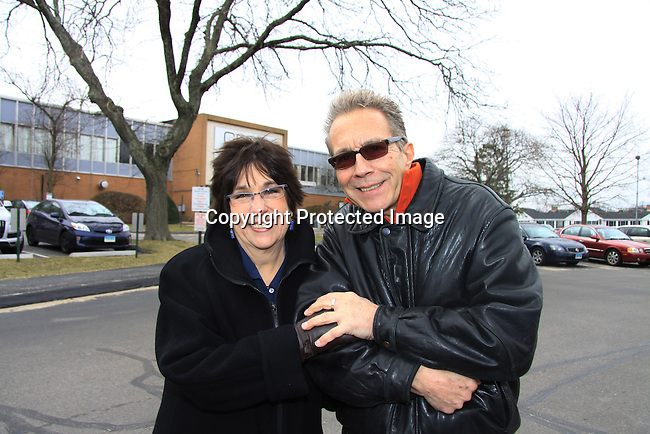 Susie Bedsow Horgan & Thom Racina - OLTL Head Writers - Welcome Back Rally to mark the returns of former ABC soap opera One Life To Live and All My Children. Due to overwhelming fan demand, both long-running dramas are being re-launched by producer Prospect Online Network (TOLN). The rally is in front of the Connecticut Film Center in Stamford, CT where the shows are now being produced on March 18, 2013 to coincide with OLTL's first tape date. (Photo by Sue Coflin/Max Photos)
