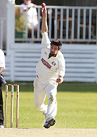 Touqeer Ahmad bowls for South Hampstead during the Middlesex County Cricket League Division Three game between North London and South Hampstead at Park Road, Crouch End on Sat June 21, 2014.