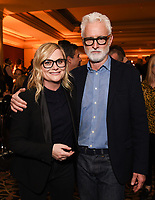 2020 FOX WINTER TCA: L-R: DUNCANVILLE writer/cast member Amy Poehler and NEXT cast member John Slattery celebrate at the FOX WINTER TCA ALL-STAR PARTY during the 2020 FOX WINTER TCA at the Langham Hotel, Tuesday, Jan. 7 in Pasadena, CA. © 2020 Fox Media LLC. CR: Frank Micelotta/FOX/PictureGroup