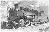 3/4 fireman side view of K-37 #490.<br /> D&amp;RGW  Durango ?, CO