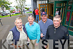Maurice Kane Duagh, Pat Lyne Valentia, Nicholas King Cromane and John B O'Sullivan Tousist at the Tax Office in Tralee on Monday.
