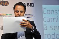 SAO PAULO, SP, 22 AGOSTO 2012 - BID-FIA - O piloto da Ferrari Felipe Massa, durante Evento do BID-FIA: Construindo o Caminho Rumo à Segurança Rodoviária no Hotel Renaissance na regiao da Av. Paulista, na tarde desta quarta-feira, 22. (FOTO: THAÍS RIBEIRO / BRAZIL PHOTO PRESS).